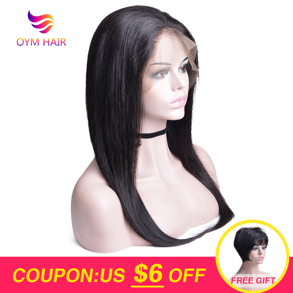 Brazilian Lace Front Human Hair Wig Pre Plucked 13X4 Straight Lace Front Wig With Baby Hair Non-Remy Hair Wig For Black Women