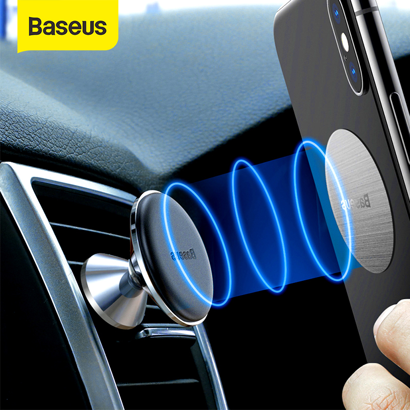 Baseus Magnetic Car Phone Holder Air Vent Mount With Magnet Support Smartphone For IPhone X XR Xiaomi Redmi Note 7s 4-6.5 Inch