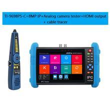 IP kamera tester 7 zoll CCTV Kamery video tester H.265 8MP TVI CVI ahd Monitor mit RJ45 HDMI ausgang POE sicherheit kamera tester