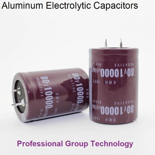 1pcs Good quality 50v 80v 63V 100V 10000uf Radial DIP Aluminum Electrolytic Capacitors Tolerance 20% 20%