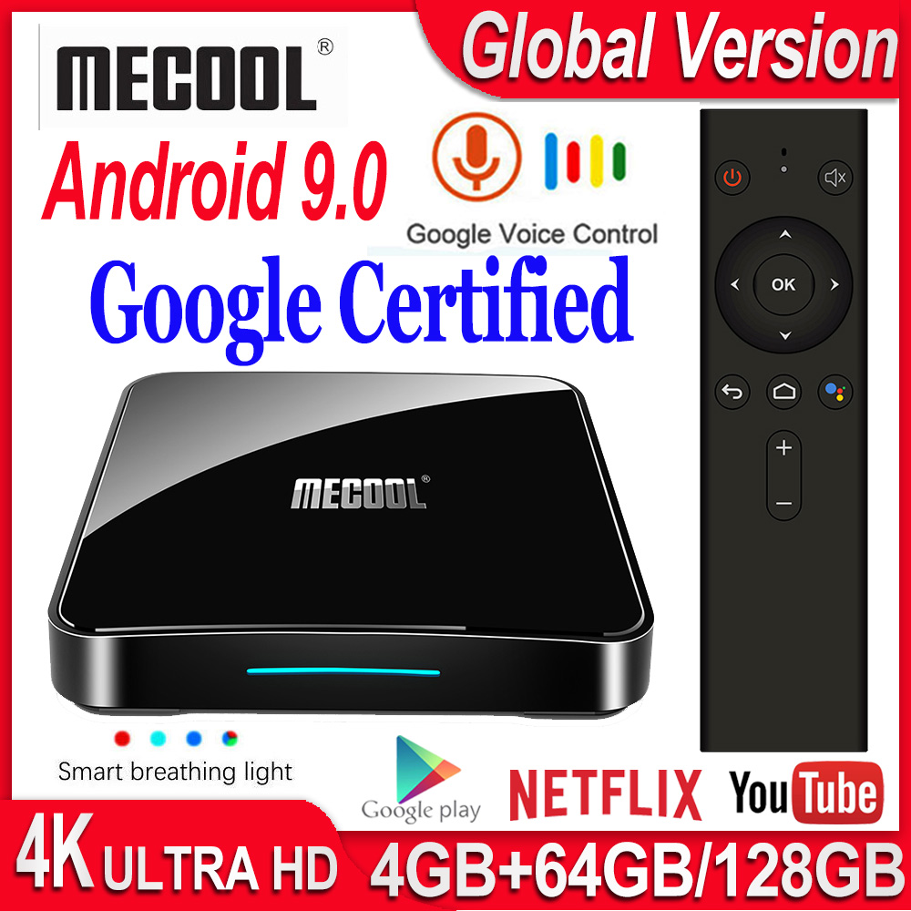 Mecool KM3/KM9 Pro Android TV Box Google Certified Smart TV Box Android 9.0 S905X2 USB3.0 2.4G/5G Wifi 4K Media Player Smart Box