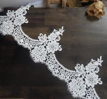 1 Meter Vintage White Black Water Soluble Lace Trim Ribbons DIY Handmade Lace Fabrics Wedding Dress Sewing Supplies Craft Trims 4meters 4cm eco friendly sequins lace trims 3d gold silver lace ribbons for stage dance dress belt sewing accessories