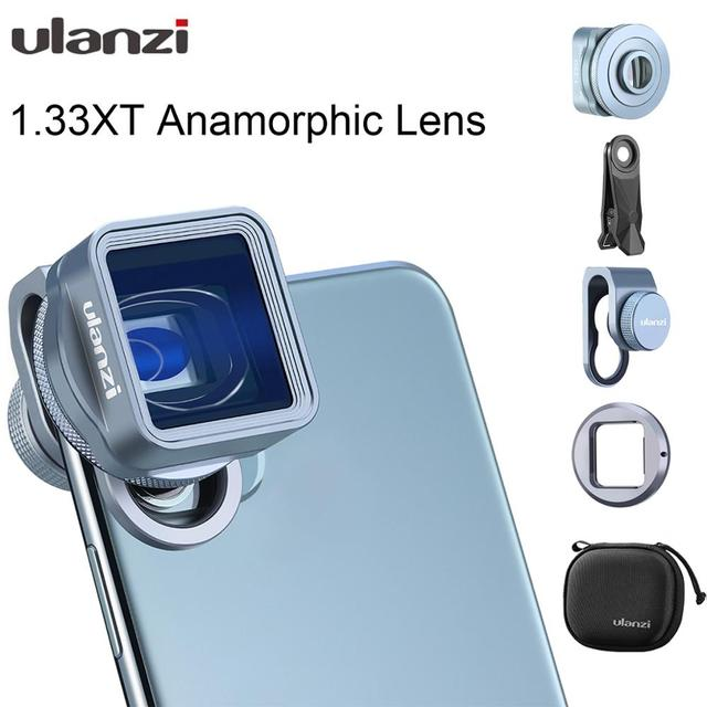 Ulanzi 1.33XT Anamorphic עדשת מסך רחב סרט Videomaker הבמאי עם 52mm מסנן מתאם עבור iOS iPhone 12 פרו מקסימום אנדרואיד