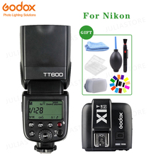 Godox TT600 2.4 グラム HSS カメラのフラッシュスピードライト + X1T N トランスミッタニコンデジタル一眼レフ
