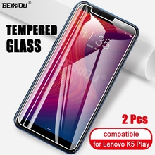 2 PCS Full Tempered Glass For Lenovo K5 Play Screen Protector 2.5D 9h tempered glass For Lenovo K5 Play Protective Film voongson 2 5d 9h screen protector for lenovo a806 a8 tempered glass for lenovo a 806 a808 a808t phone protective toughened glass