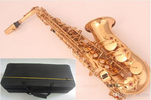 Image 5 - New high quality instrument The alto saxophone Golden alto Saxophone and case