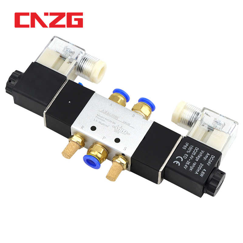Tailonz Pneumatic Solenoid Valve 4V220-08 AC220V 1//4NPT Double Coil Pilot-Operated Electric 2 Position 5 Way Connection Type