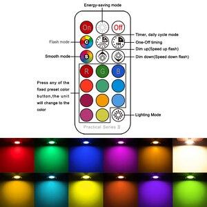 Image 5 - 4Pcs LED DownlightรอบDimmable 7W RGBW LEDเด็กเพดานแสงอินฟราเรดควบคุมสีเปลี่ยนAC 110V/220V
