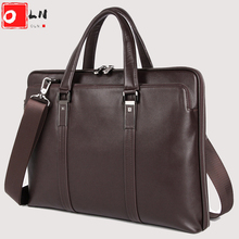 Briefcase-Bag Laptop-Bag Labtop Luxury Shoulder-Bag Documents Men's OLN for A4 Natural