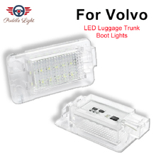 2Pcs No Error White LED Luggage compartment LightFor Volvo C70 S60 V60 V70 C30 XC70 S80 XC90 V40 V50 XC60 Trunk Lamp car styling car computer screen display projector refkecting windshield for volvo c70 s40 s60 s70 s80 s90 v40 v70 v90 xc70 driving screen