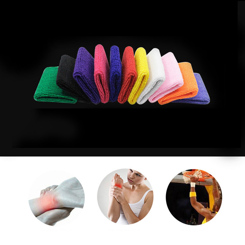 running - 2020 Newest Adjustable Wristband Elastic Soft Brace Wrap Bandage Gym Strap Wrist Support Bands Weight Lifting Exercise Sweatband