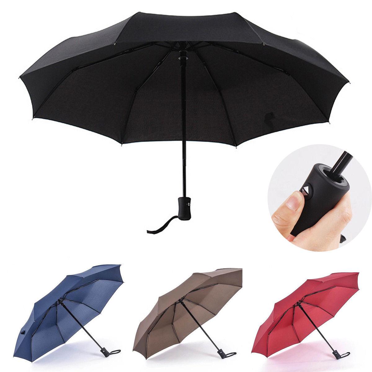 Automatic Travel Umbrella Auto Open Close Compact Folding Windproof Waterproof Umbrella