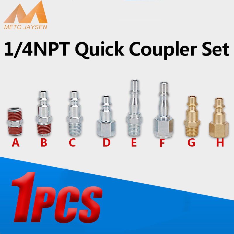 1/4NPT Male Female Quick Disconnect Coupler Set Airforce Pneumatic Air Compressor Automotive Connector Fitting Socket