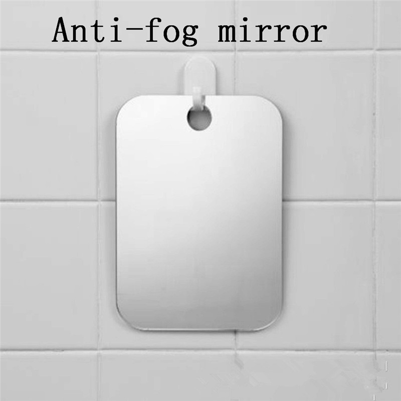 Anti Fog Shower Mirror Bathroom Fogless Free Washroom Travel Acrylic shaving mirror bathroom anti-fog A1