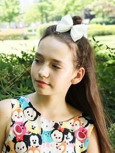 Hair-Bows Hair-Accessories Rhinestone Pearl Boutique-Layers Bling White Girls Kids