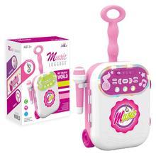 어린이 음악 수하물 가방 가라오케 노래 기계 마이크 age3 + 소년 소녀 재미 있은 선물 장난감 악기