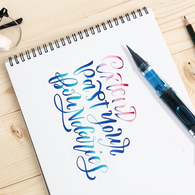 Высококачественная пластиковая популярная перьевая ручка BR Nib чернильные поршневые Канцтовары офисные и школьные принадлежности