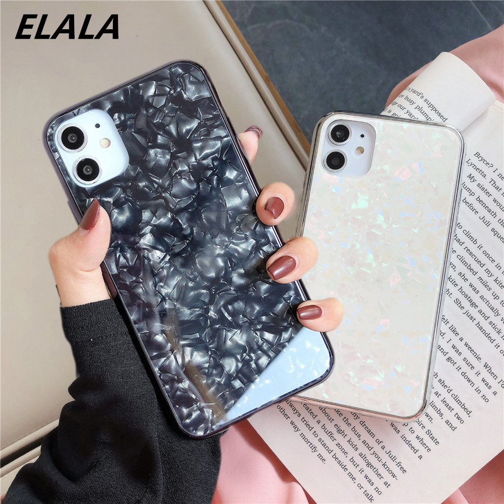 Glitter Marble Case For iPhone 11 Pro XS Max XR X 6s 7 8 Plus Bling Laser Silicone Side Phone Cases For iphone 11 Pro Back Cover