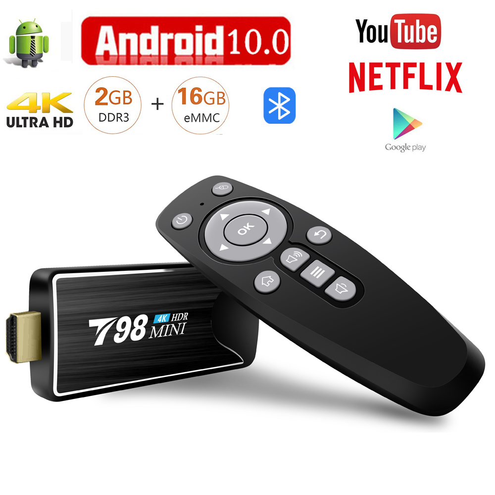 Smart TV BOX Android 10 Media Player 3D Video 4K Bluetooth 2.4G wifi 2GB RAM 16GB Tv Stick Set Top Box TV Receiver(China)