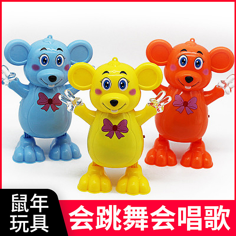 Big Rat Mascot Dancing Mouse Electric Light Music Dancing Meng Meng Rat Stall Hot Selling 2020 Toy