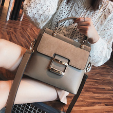 Chic Buckle Pu Handbags Tote Vintage Large Capacity Women Casual Solid Color Shoulder Messenger Bags  Brand Purse