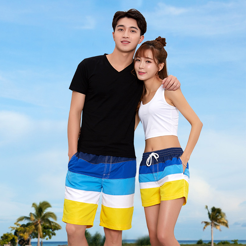 Couples Beach Shorts Pin Tiao Internal Network New Style Shorts Hot Pants Top Grade Water Park Quick Drying Pants Hair