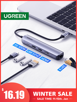 UGREEN-Adaptador USB tipo C para MacBook Air Pro 3,1, PC, concentrador USB...