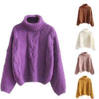 Herbst Winter Frauen Mode Pullover Grund Weibliche Pullover Batwing Ärmel Einfarbig Femme Beiläufige Gestrickte Streetwear