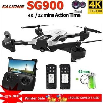 Dron SG900 plegable Wifi RC 4K con cámara HD Dual 50X Follow Me Quadrocopter profesional Drone batería larga vida juguete para chico