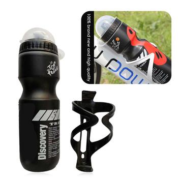 750ML rower górski rowerowa butelka na wodę pitną + uchwyt Outdoor Sports plastikowy przenośny czajnik butelka wody Drinkware tanie i dobre opinie LOOZYKIT 701 ml-800 ml CN (pochodzenie) Z tworzywa sztucznego Bicycle bottle With bracket Approx 240 x 72mm(H X D) Approx 90g