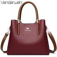 Leder Lässige Umhängetaschen für Frauen 2021 Damen Luxus Designer Tote Handtasche Top-Griff Hohe Qualität Schulter Tasche Sac EIN Haupt