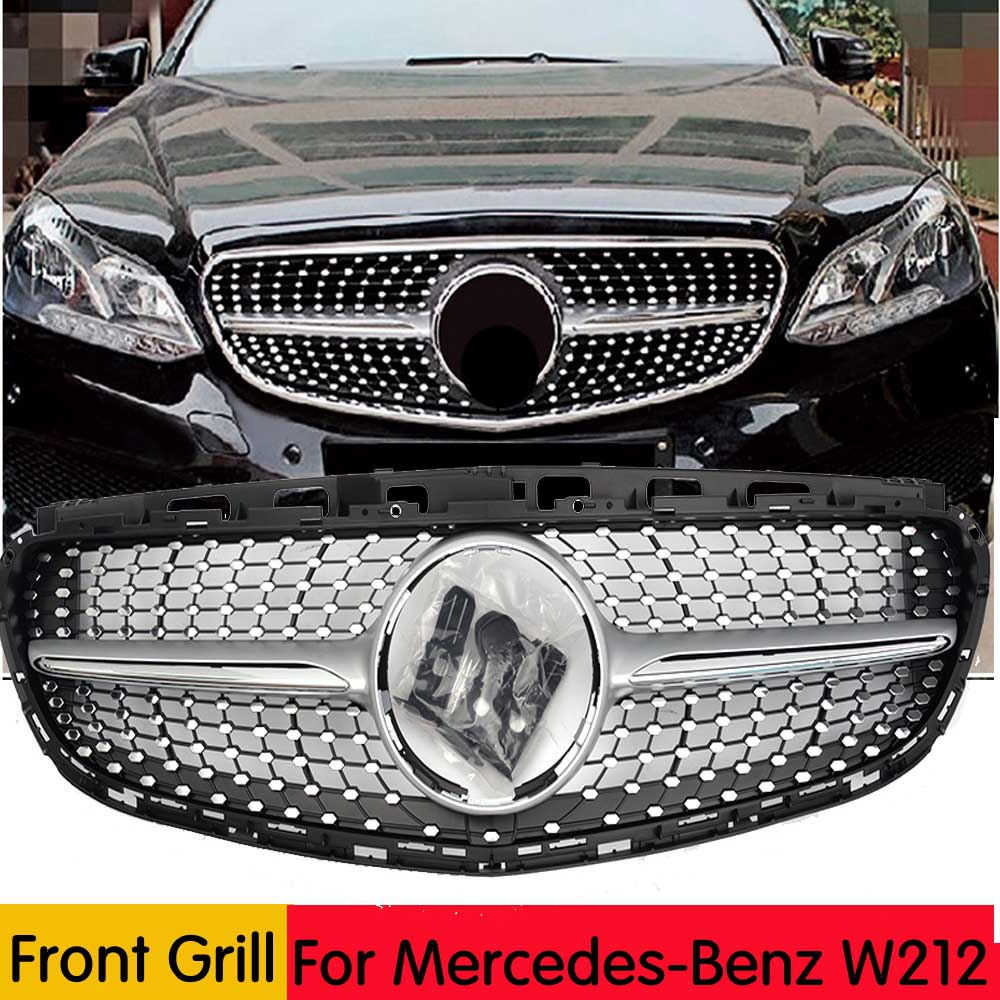 For <font><b>W212</b></font> Diamonds Front Bumper <font><b>Grille</b></font> Mesh For <font><b>Mercedes</b></font> E Class 4-door Sedan E200 E250 E350 E400 <font><b>W212</b></font> Sport Sedan 2014-2015 image