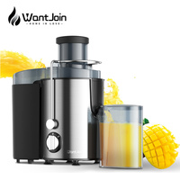 WantJoin 400w Stainless Steel Juicer Electric Vegetable Fruit Drinking Machine For Home CE Multi Function Juicer Extractor Mixer Juicers     -