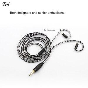 Image 2 - Cable de auriculares Chapado en plata de 8 núcleos, 2,5mm/3,5mm a 0,75mm, 0,78mm, conector mmcx de 2 pines, Cable de actualización Hifi