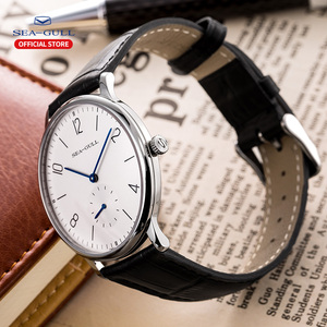 Image 5 - שחף מותג לצפות דק מכאני שעון גבירותיי שעונים אופנה עסקי עור שעון D819.612L