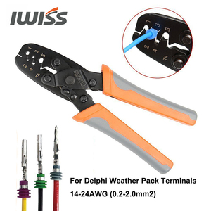 Image 4 - IWISS IWS 1424B Weather pack Crimper Tools for Crimping Delphi Packard Weather pack Terminals or Metri Pack Connectors