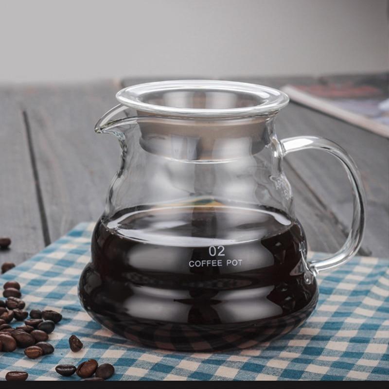 Glass Coffee Pot Cloud Shaped Coffee Kettle Reusable Coffee Pot Heat Resistant Teapot Coffee Utensils 360/600/800ml