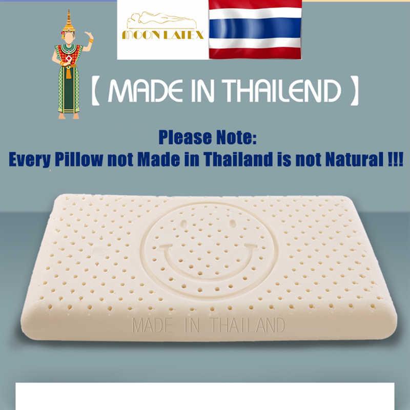 Moonlatex Tailandia 100 Natural niños almohada de látex cama para dormir Bebé ortopédico niño suave látex cabeza de niños almohada para el cuello regalo