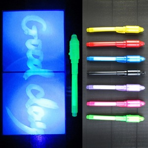 2 In 1 UV Invisible Light Pen Funny Marker Pen School Supply Creative Magic Kids Students Gift Led Lamp Coloful Stationery