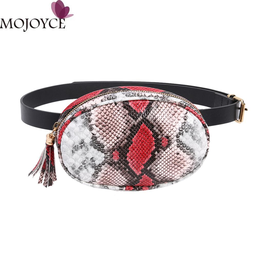 Serpentine Fashion Women's Waist Packs Brief Girls Sling Chest Bag Zipper Belt Bag For Women Ladies Fanny Bags Travel Bum Bags