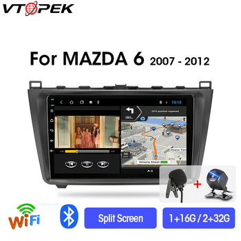 Vtopek 9 2din 2+32G Android Car Radio Multimedia Video Player Navigation GPS For Mazda 6 Rui Wing 2007-2012 Head Unit 2 din DSP