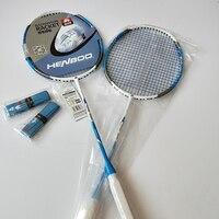 HENBOO Lightweight Badminton Set Standard Ultra-light Carbon Composite Training Badminton Racket And Tote Bag Sports Equipment