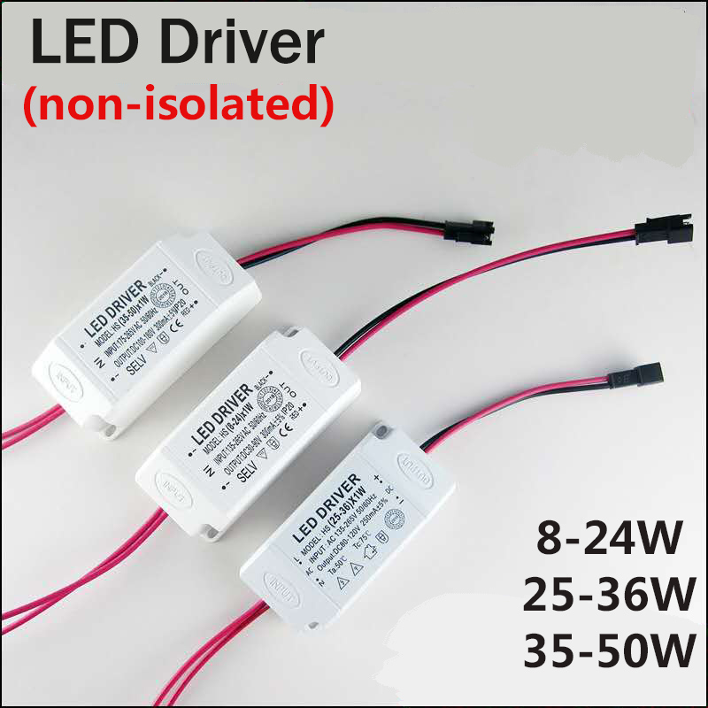 8-50 Вт Вход AC 220 В Ток 240-300ма неизолирующий трансформатор Treiber постоянный Светодиодный источник питания для драйвера адаптируется под светод...