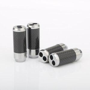 Image 2 - 4 pezzi In fibra di Carbonio Altoparlante Cavo Audio Cavo Filo Pantaloni di Avvio Y splitter 1 a 2 cavo Dellaltoparlante Boot 11MM a 7 MILLIMETRI