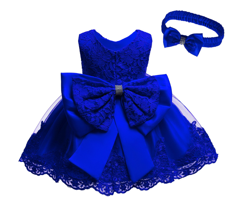 Baby Dresses Girl Clothes With Hairband Summer Butterfly Lace Kids Dress Party Birthday Kids Dresses For Girls Clothes