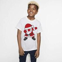Новинка; Лидер продаж; Рождественская праздничная одежда для маленьких мальчиков и девочек; футболки с короткими рукавами; топы; футболки; одежда