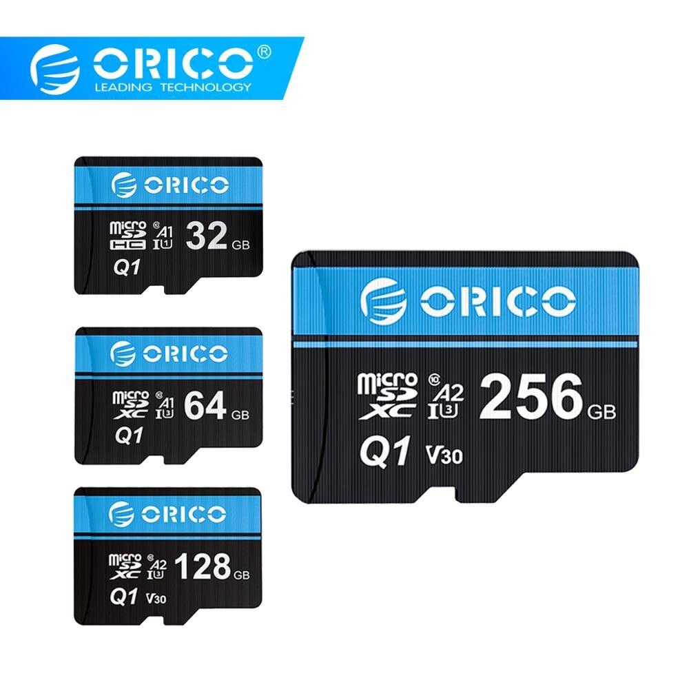 ORICO memoria Micro TF/tarjeta SD 256GB 128GB 64GB MicroSD de 32GB máx. 80 M/s Class10 mini TARJETA DE TF con adaptador de tarjeta SD.