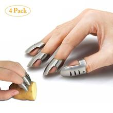 4pcs Stainless Steel Finger Guard Protect Cutting Vegetables Protector Knife Cut Finger Protection Hand Guard Kitchen Gadgets