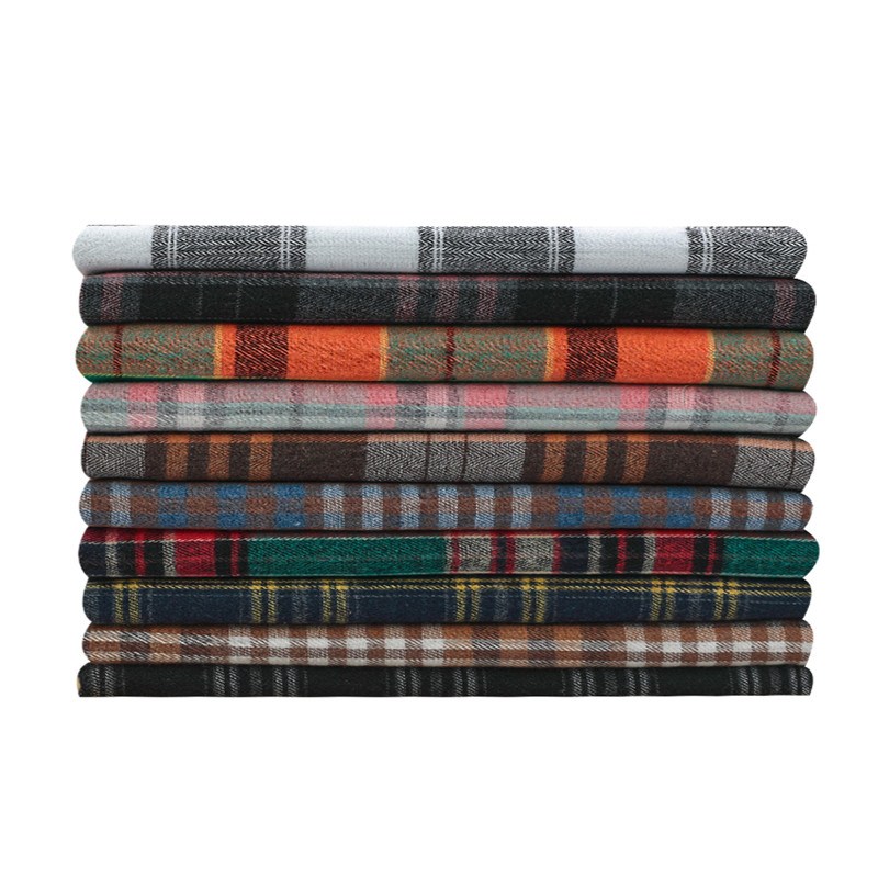 Suffer warm autumn and winter check fabric British style shirt plaid skirt jacket pants jk clothing fabric sanding diy8.9-5