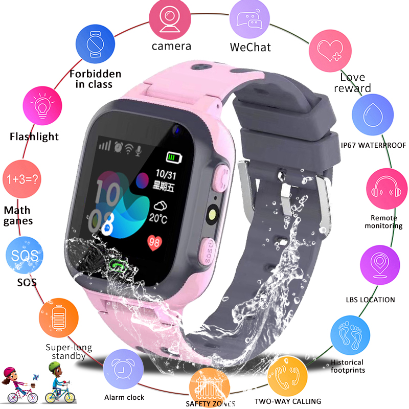 LIGE New Kid Smart watch LBS Smartwatches Baby Watch Kids SOS Call Location Finder Locator Tracker Anti Lost Monitor Gift